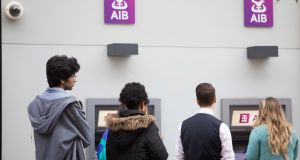 Irish people take out on average €4,000 a year from ATMs, the fifth highest level in Europe.  Photograph: Tom Honan.
