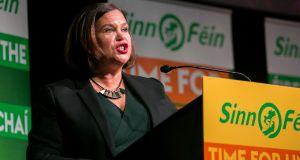 Sinn Féin leader Mary Lou McDonald. Photograph: Gareth Chaney/Collins.