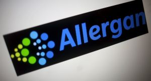 Irish domiciled Allergan, with a market value of $62 billion (€56 billion), said its investment will increase its workforce across the Republic beyond 2,000. Photograph: Thomas White/Reuters