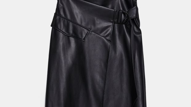 Leather like skirt, €29.95, Zara.