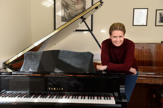 Liezl-Maret Livingstone: 'Being at the piano academy has opened so many doors, we're very happy here.' Photograph: Dara Mac Dónaill
