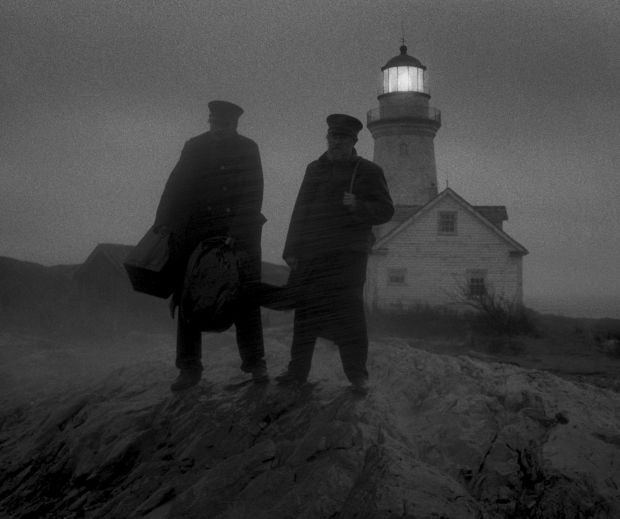 Willem Dafoe and Robert Pattinson in The Lighthouse. Photograph: A24 Pictures