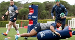 Bundee Aki during Ireland training in Portugal ahead of the Six Nations. Photo: Dan Sheridan/Inpho