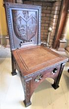 Rare 18th Century oak hall chair with links to William Congreve, €500-€800,  Matthews