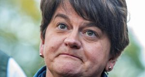 DUP leader Arlene Foster. 'Rather than unionism losing a constitutional argument and fading away, the DUP might foresee itself as leading a permanent ethnic minority bloc.' Photograph: Paul Faith/AFP via Getty Images