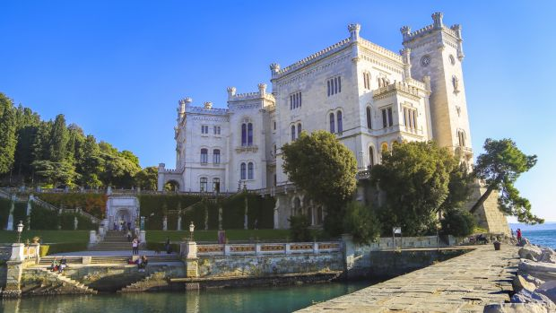 Miramare Castle: A 19th-century castle on the Gulf of Trieste, built from 1856 to 1860 for Austrian Archduke Ferdinand Maximilian and his wife, Charlotte of Belgium.