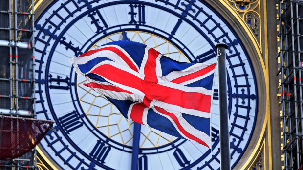 Britain's Union flag flies in front of Big Ben in London, Britain. Photoograph: Andy Rain/EPA