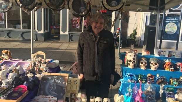"Leave-voter Alan Clarke runs a market stall called Destiny, Dragons and Dreams. ""Anything you believe in can work."" He laughs. ""Like Brexit. It has to work."" Photograph: Patrick Freyne"