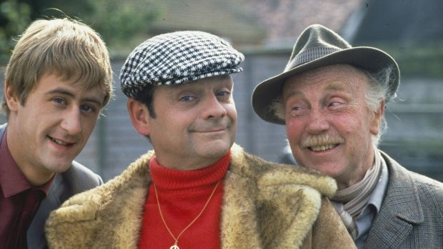 David Jason (centre) with Nicholas Lyndhurst and Lennard Pearce in Only Fools and Horses