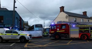 The scene at Main Street in Arklow, Co Wicklow earlier on Thursday. Photograph: Garry O'Neill