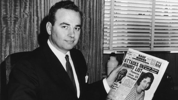 Media tycoon Rupert Murdoch takes over Sydney tabloid the Daily Mirror, May 1960. Photograph: Keystone/Hulton Archive/Getty Images