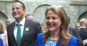 The Taoiseach with Senator Catherine Noone. 'She made outrageous statements about Leo Varadkar being autistic and tried to make it better saying she did not mean it literally.' File photograph: Gareth Chaney/Collins