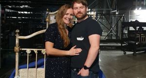 Aoife Carry,  the show's artistic director, and her husband Mark Carry, an automation technician