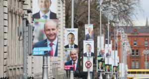 Posters for different political parties around Dublin.  Photograph: RollingNews.ie