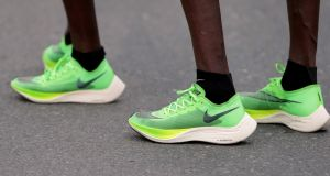 World Athletics opted not to ban the Nike Vaporfly shoes on the basis they have been 'generally available for a considerable period of time'. Photograph: Christopher Pike/Reuters