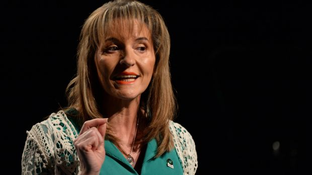 Sinn Féin's Martina Anderson told those present at a rally in Bridgend that she addressed them as 'a very proud MEP for another hour'. File photograph: Dara Mac Dónaill/The Irish Times.