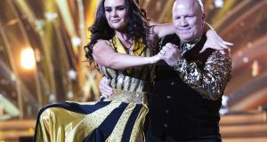 Out for the count: Michael Carruth, with Karen Byrne, voted off Dancing with  the Stars. Photograph: Kyran O'Brien