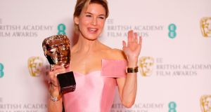US actress Renee Zellweger poses with the award for a Leading Actress for her work on the film 'Judy' at the BAFTA British Academy Film Awards. Photograph: by Adrian Dennis/AFP/Getty Images)