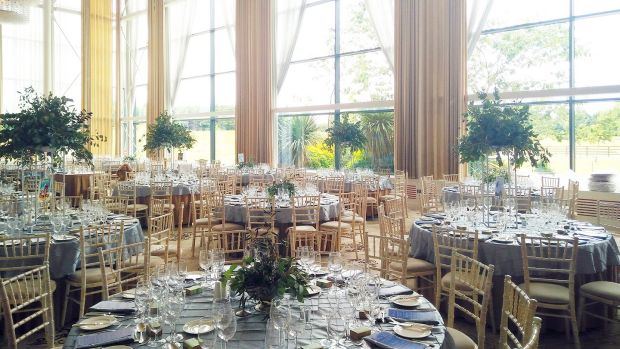 Castlemartyr's Capel Suite ballroom has floor-to-ceiling windows, giant chandeliers and mood lighting.