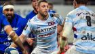 Racing 92 outhalf Finn Russell will not be involved with Scotland against England next weekend. Photograph: Getty Images