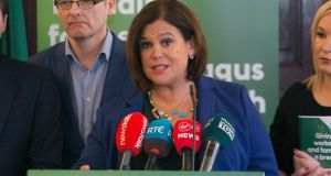Sinn Féin leader Mary Lou McDonald looks set to be included in the final televised leaders' debate. Photograph: Collins