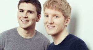 Stripe founders John Collison and and Patrick Collison. Stripe, which was founded in 2010, is valued at $35.3 billion, having raised $1.3 billion across seven funding rounds