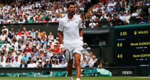 Novak Djokovic will be the defending champion in 2020. Photograph: Adrian Dennis/Getty Images