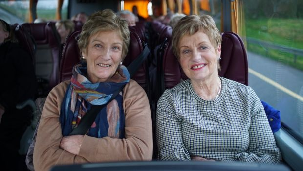 Maura Barton and Ellen Carmody: Ellen contacted Danny Healy-Rae, and had a place on the cataract bus 10 days later. Photograph: Enda O'Dowd