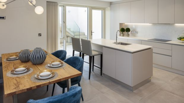 Kitchen and dining space. Photograph: Peter Moloney/PM Photography
