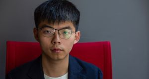 Hong Kong pro-democracy activist Joshua Wong, photographed on September 21st, 2019.  Photograph: Alastair Pike/AFP/Getty Images