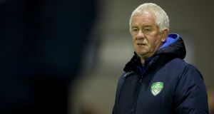 Cabinteely manager Pat Devlin feels his team can compete for promotion. Photograph: Oisin Keniry/Inpho