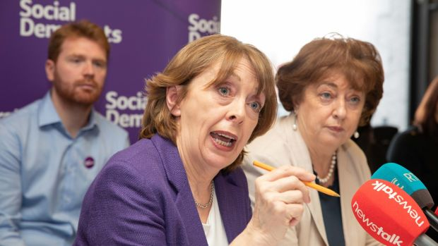 Social Democrats co-leaders Róisín Shortall and Catherine Murphy (right). Photograph: Paul Sharp.
