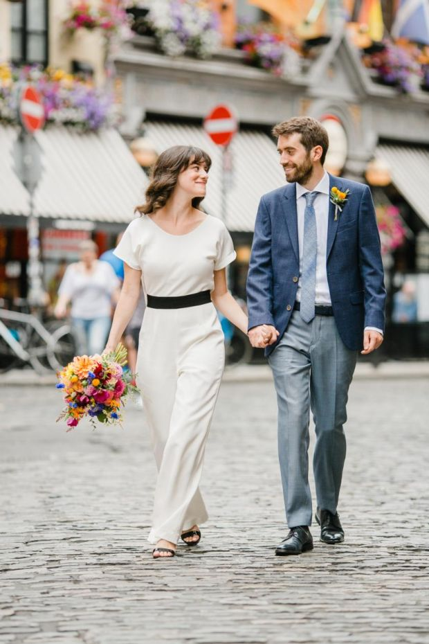 Tom Sheppard and Sarah Fink planned a wedding that saw them traverse across Dublin. Photograph: DASCHA CAFFREY