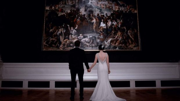 Grace O'Connor and James Foley married at the National Gallery of Ireland