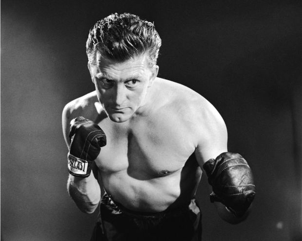 American actor Kirk Douglas in a promotional portrait for 'Champion', directed by Mark Robson, 1949. Photograph: Silver Screen Collection/Getty