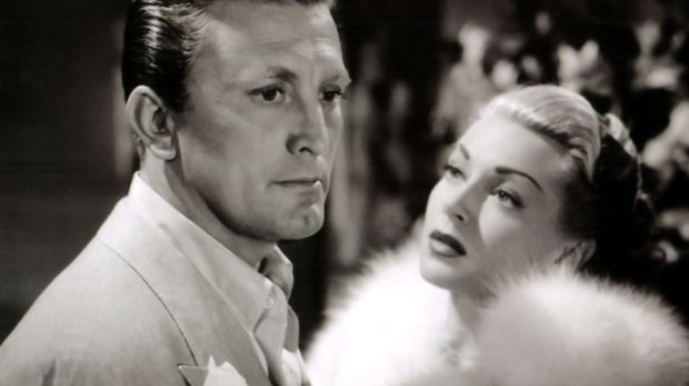 Actress Lana Turner and Kirk Douglas in a scene from the movie The Bad and the Beautiful. Photograph: Donaldson Collection/Getty