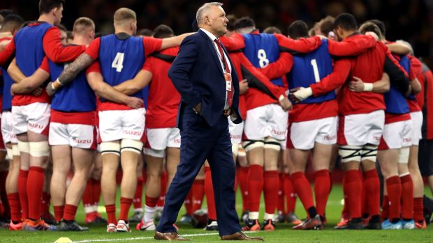 Wayne Pivac's Wales tenure started with a 42-0 win over Italy. Photograph: David Davies/PA