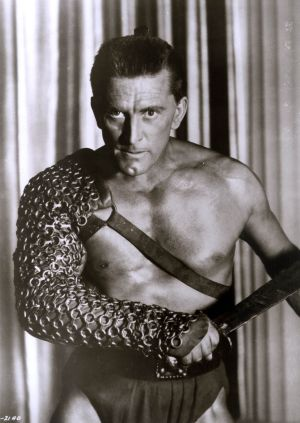 Kirk Douglas in his most famous role of Spartacus, in a still from the 1960 film. Photograph: HO/AFP/Getty Images