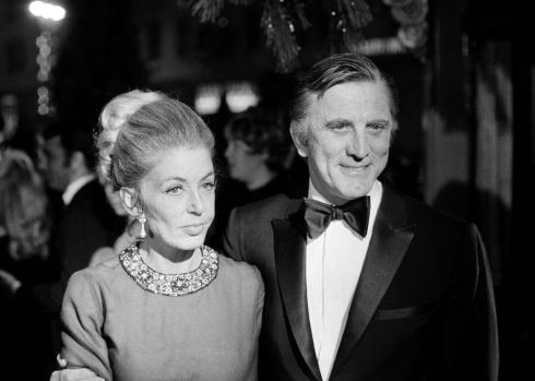 Kirk Douglas and his wife Anne at the premiere of Hello Dolly in Los Angeles, December 1969. Photograph: David F Smith/AP