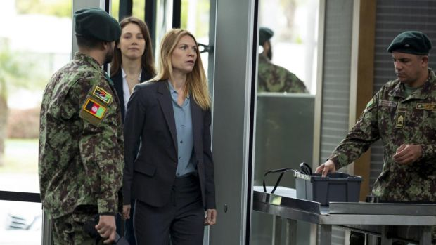 Andrea Deck and Claire Danes in Homeland
