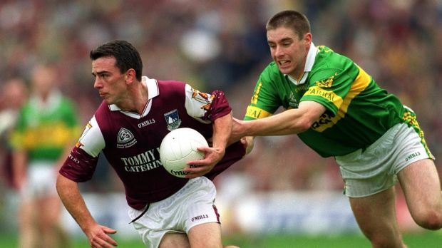 Pádraic Joyce in action for Galway against Kerry's Darragh Ó Sé during the 2000 All-Ireland Final at Croke Park. Photograph: Andrew Paton/Inpho