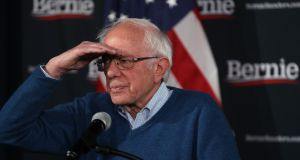 "Bernie Sanders: ""We are now at a point with some 97 per cent of the precincts reporting where our campaign is winning the popular initial vote by some 6,000 votes."" Photograph: Justin Sullivan/Getty Images"