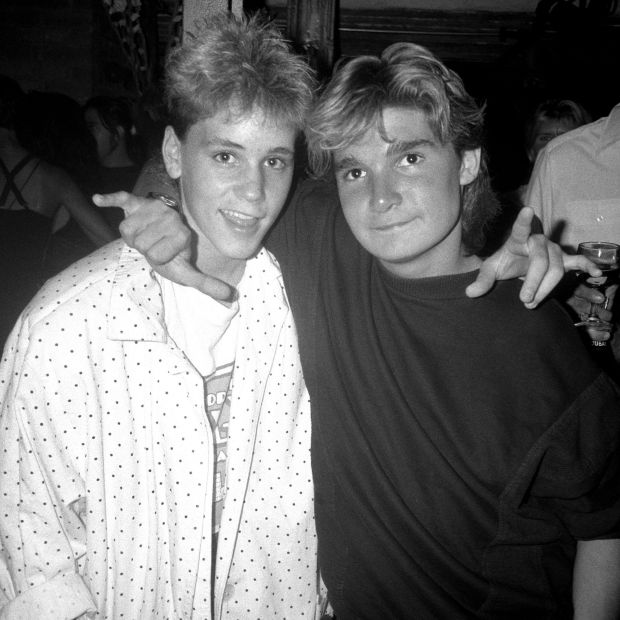 The two Coreys: Corey Feldman with Corey Haim in 1987. Photograph: Patrick McMullan/Getty