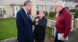 Cllr Pa Daly of Sinn Fein (left)  on a walk around Tralee with outgoing TD Martin Ferris. Photograph: Domnick Walsh