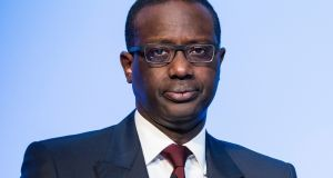 """I had no knowledge of the observation of two former colleagues,"" outgoing chief executive Tidjane Thiam Thiam said in the Credit Suisse statement. Photograph: Dominic Steinmann/Keystone via AP"
