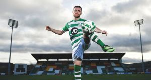 Jack Byrne didn't play in Shamrock Rovers most recent friendly but has been training since despite what is understood to be a minor thigh strain. Photograph:   Sportsfile
