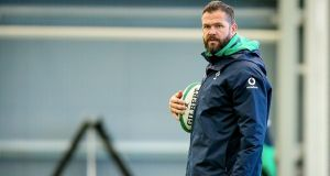 Andy Farrell:  the new Ireland head coach  hasn't been given the latitude and sense of slate-wiped-clean that usually comes with that appointment. Photograph: Tommy Dickson