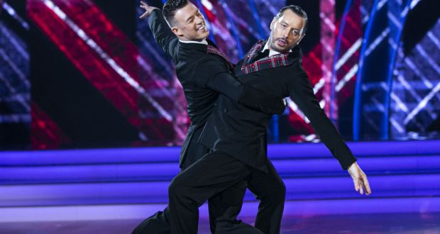 Brian Dowling with Kai Widdrington in Dancing with the Stars. Photograph: Kyran O'Brien