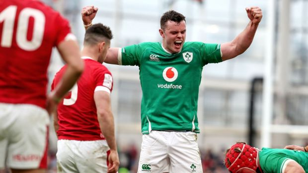 James Ryan during Ireland's win over Wales. Photograph: Bryan Keane/Inpho