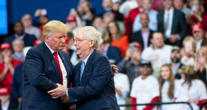 Donald Trump 'has forged one of the most cynical and darkly productive alliances of all time' with  Mitch McConnell, sending his personal approval rating to an all-time high'. File photograph:  Doug Mills/The New York Times